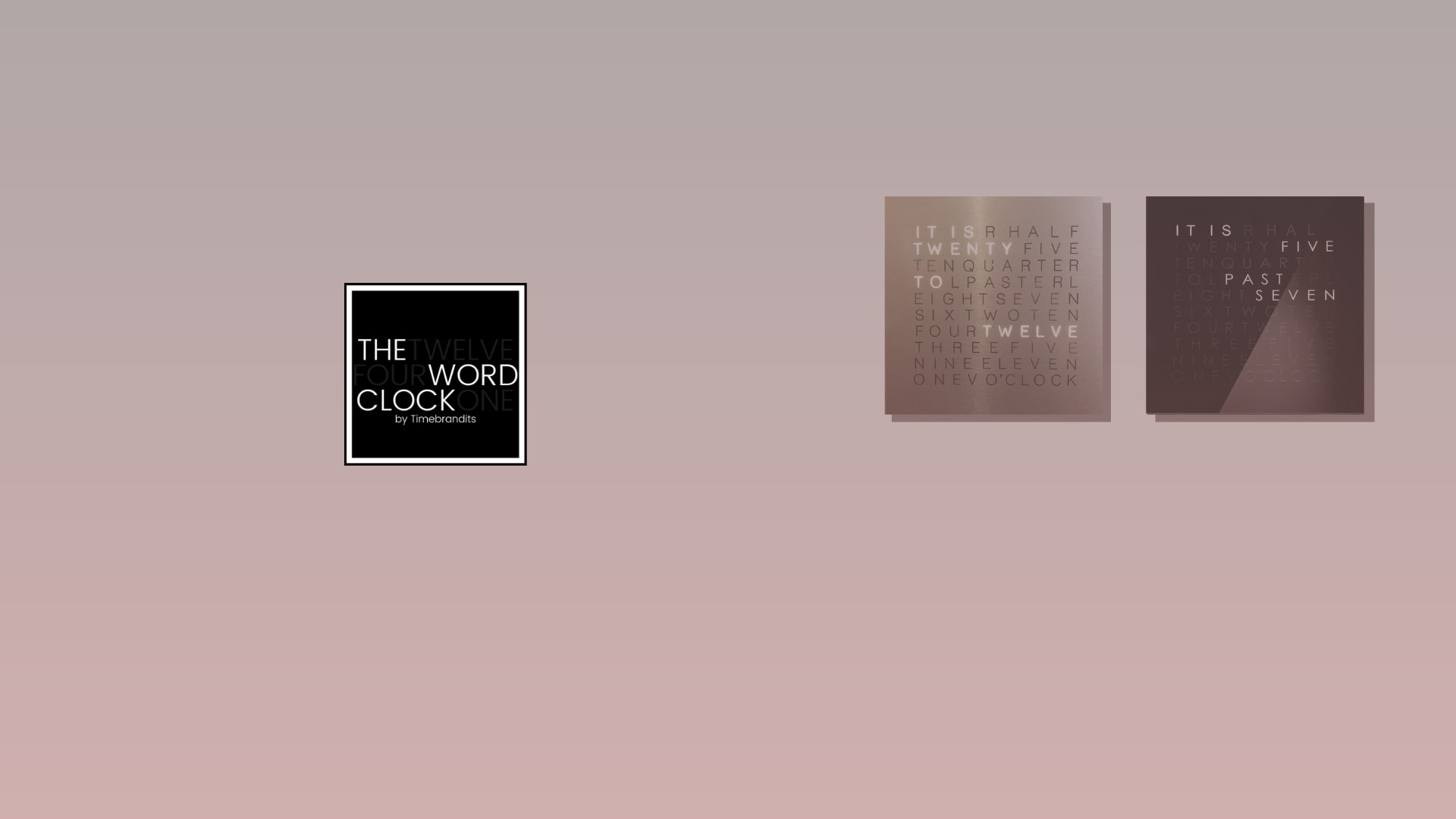 The Word Clock - by Interakt
